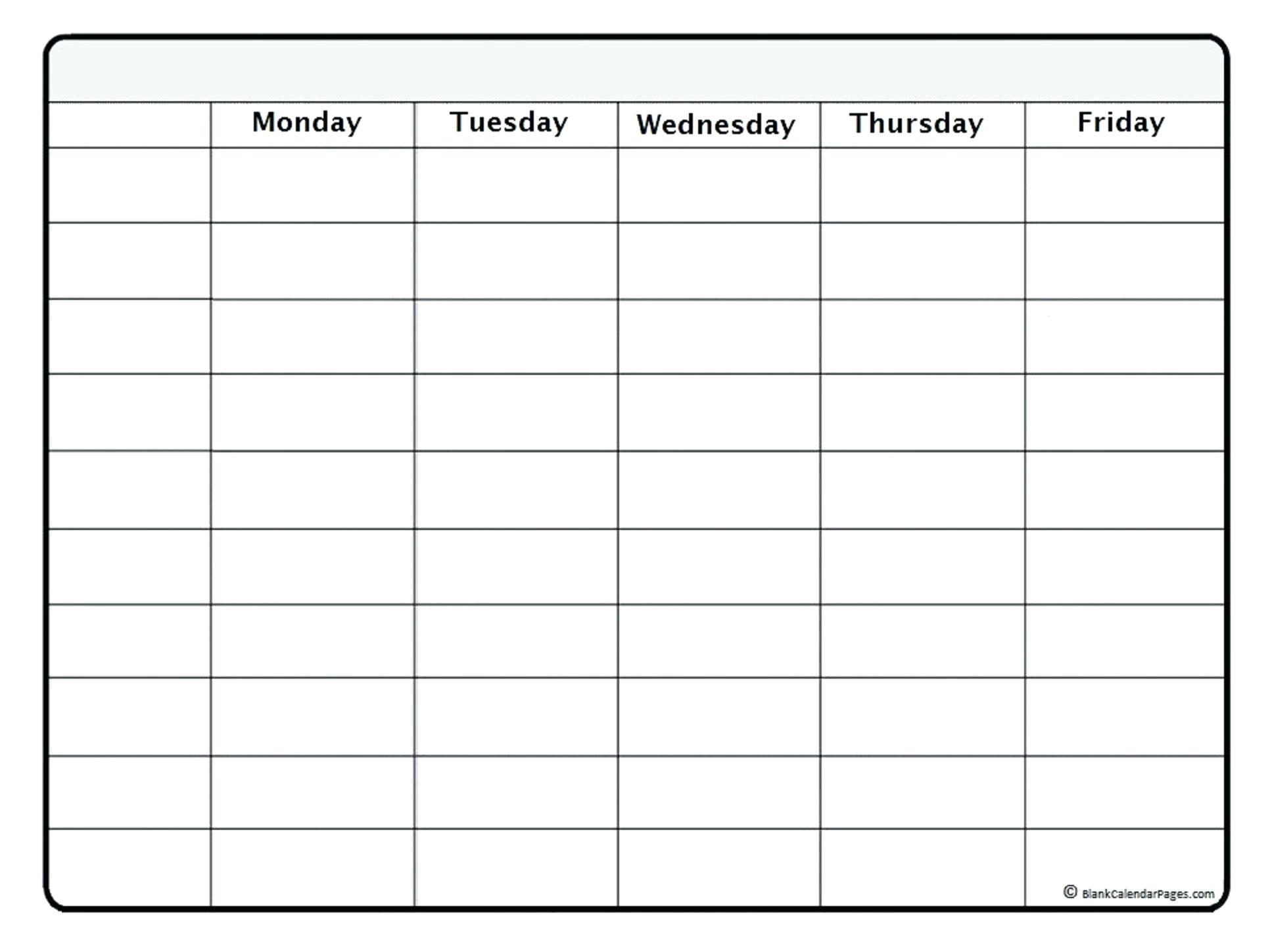 Template Weekly Calendar – Uppage.co throughout Printable Blank Weekly Calendar