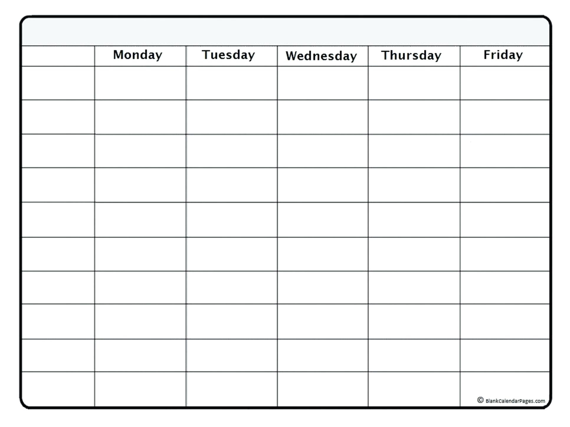 Template Weekly Calendar – Uppage.co with Printable Weekly Calendar