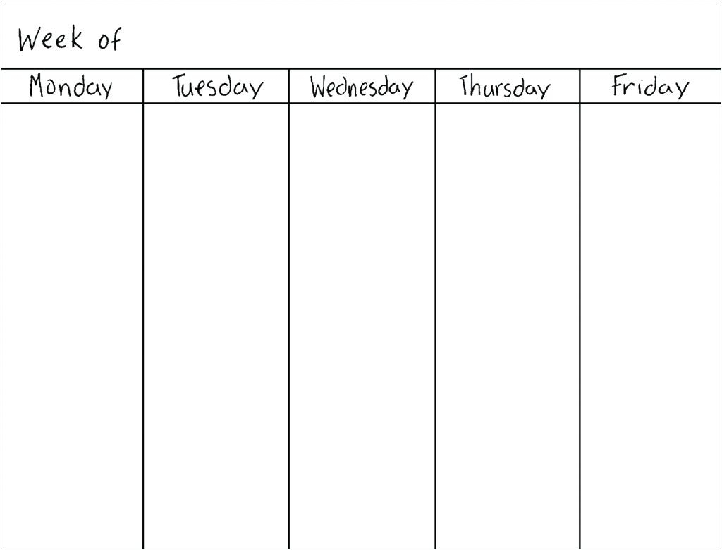 Template Weekly Calendar – Uppage.co within Weekday Calendar Printable