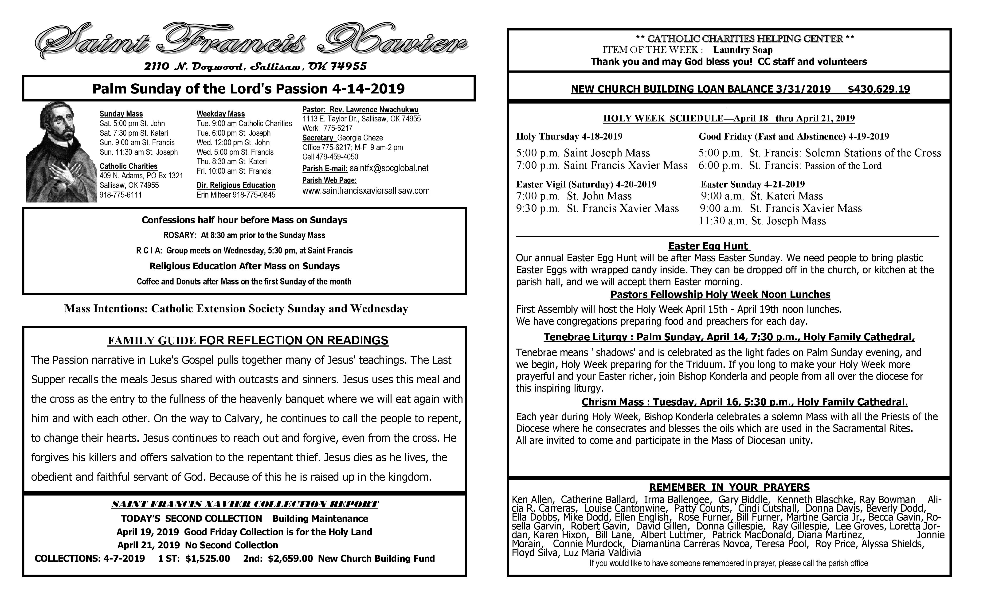 Testimonials throughout Catholic Extension Calendar