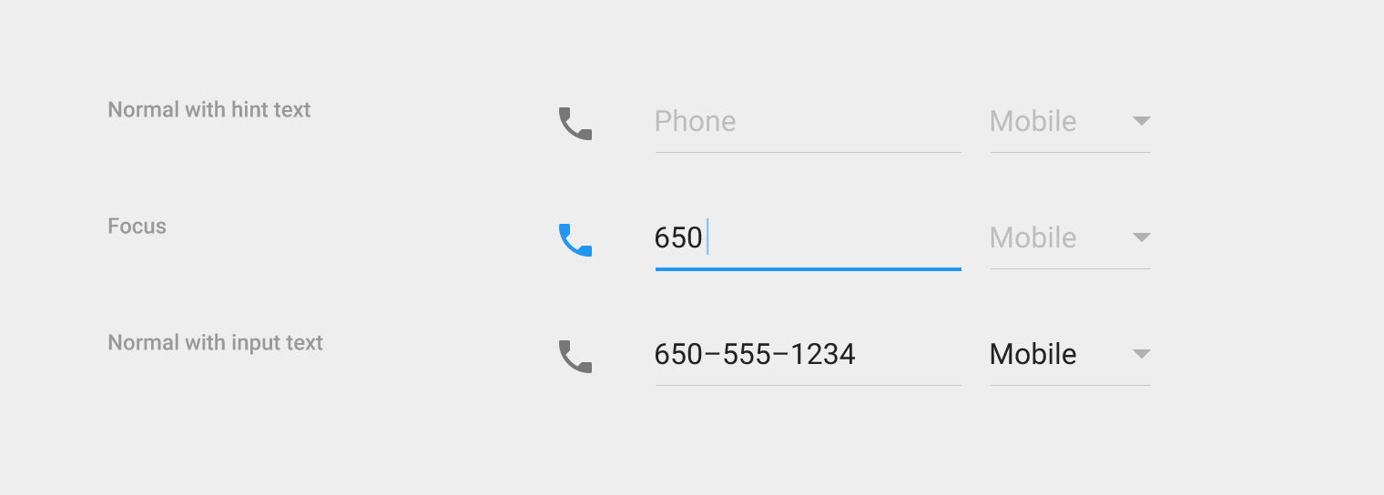 Text Field With Icons · Issue #1127 · Googlematerialdesign throughout Text Fields Material