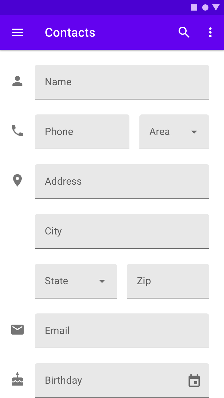 Text Fields  Material Design throughout Text Fields Material