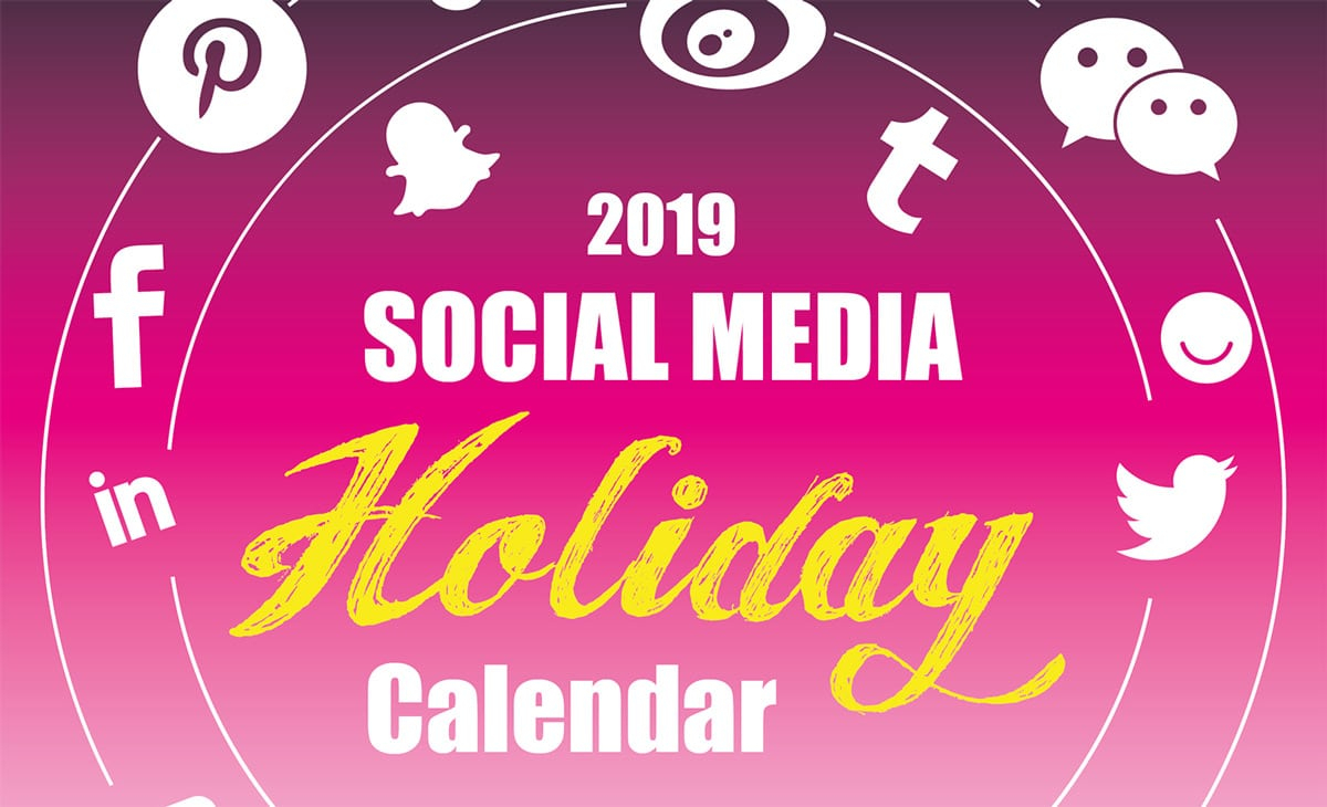 The 2020 Social Media Holiday Calendar  Make A Website Hub in The Ultimate Social Media Holiday Calendar For 2020