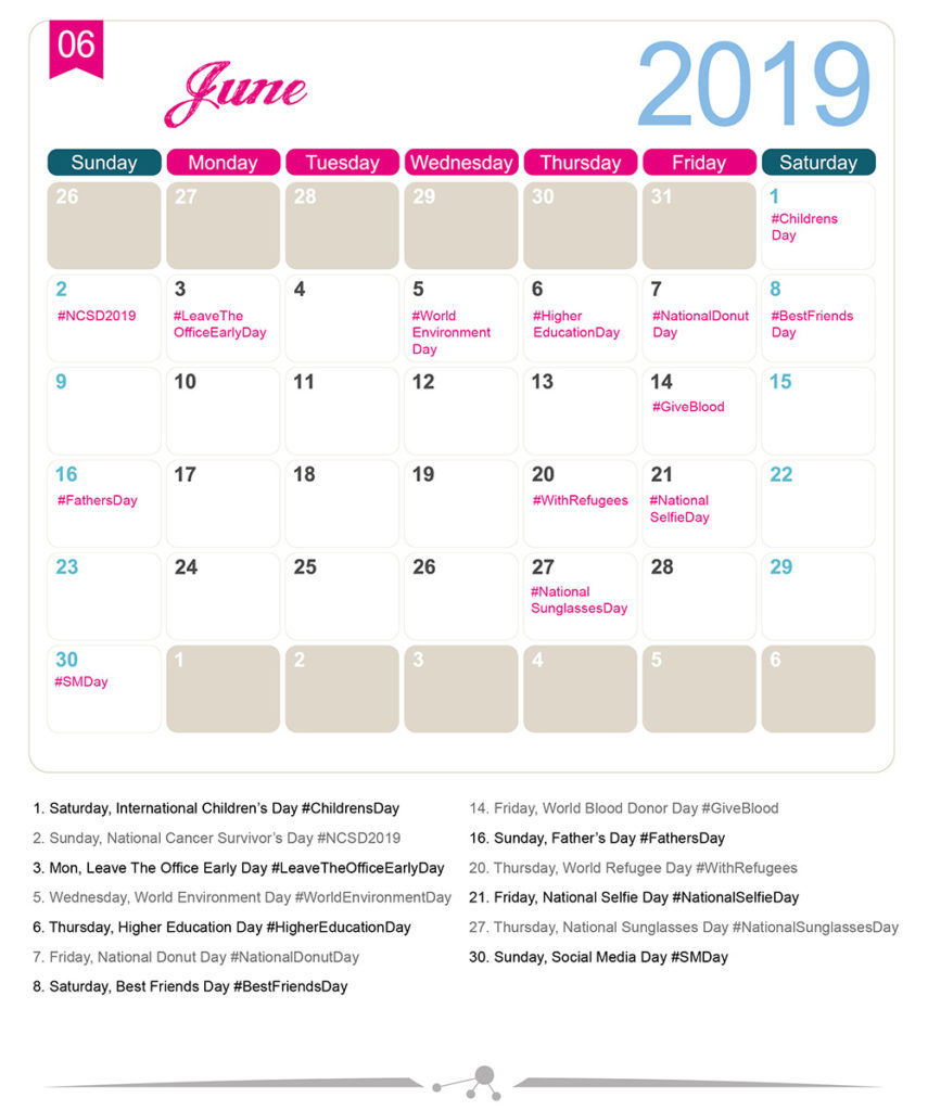 The 2020 Social Media Holiday Calendar  Make A Website Hub intended for The Ultimate Social Media Holiday Calendar For 2020