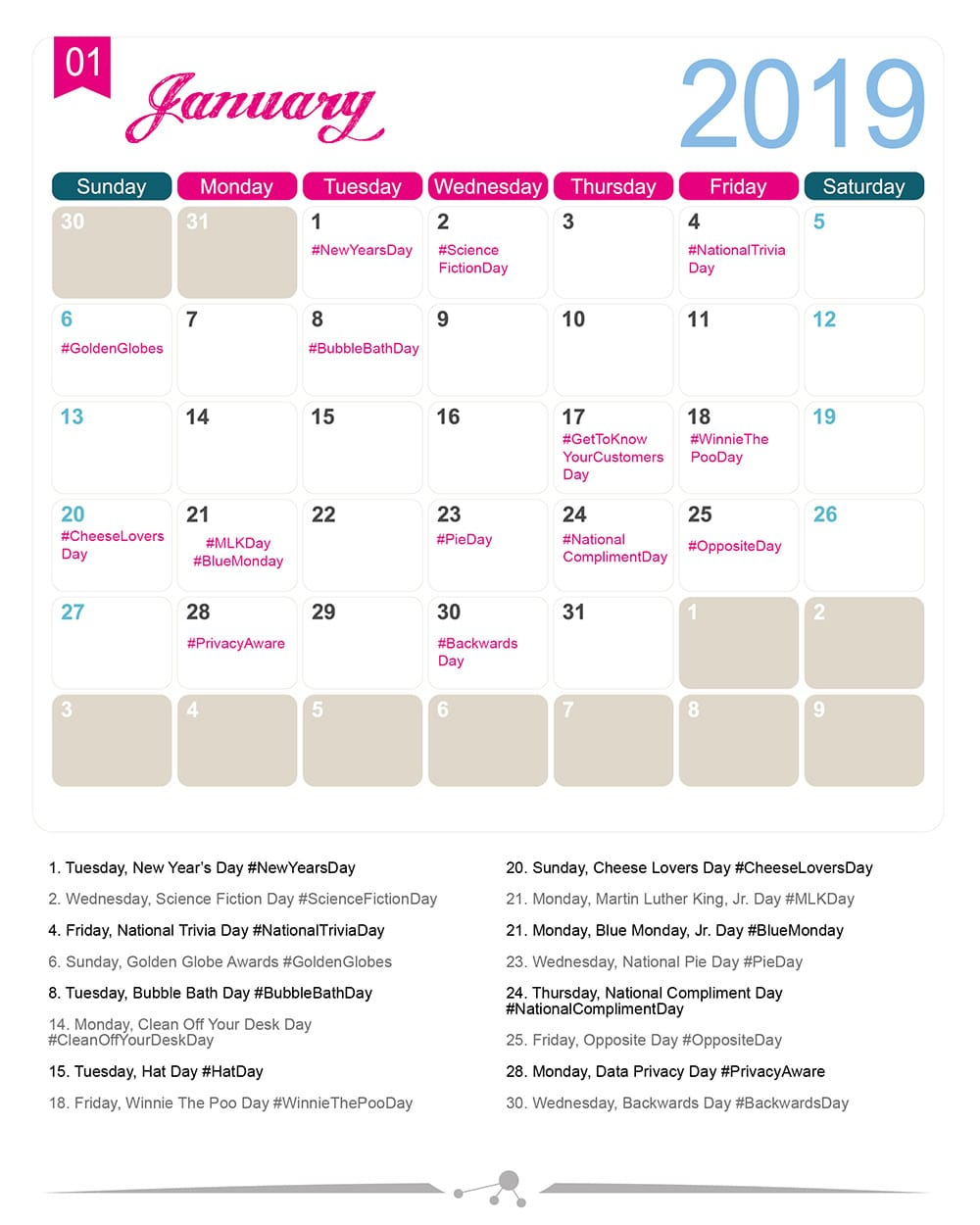 The 2020 Social Media Holiday Calendar  Make A Website Hub with The Ultimate Social Media Holiday Calendar For 2020