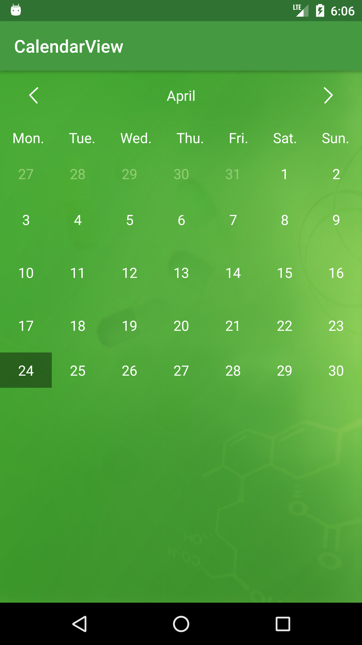 The Android Arsenal  Date & Time Pickers  Calendarview pertaining to Android Arsenal Calendar