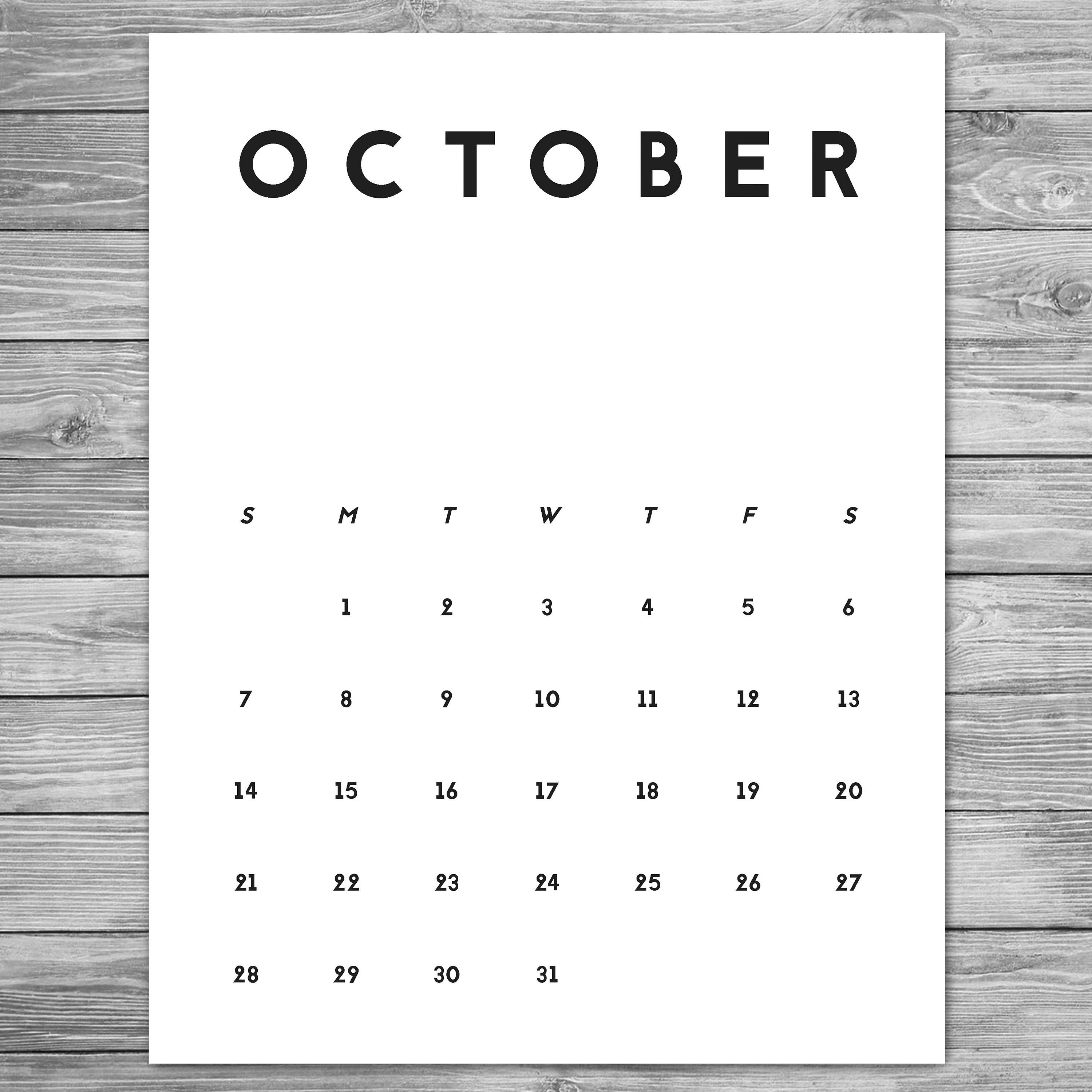 The Calendar Design , For 3 Years , Modular , Typography intended for Large Grid Calendar Printable