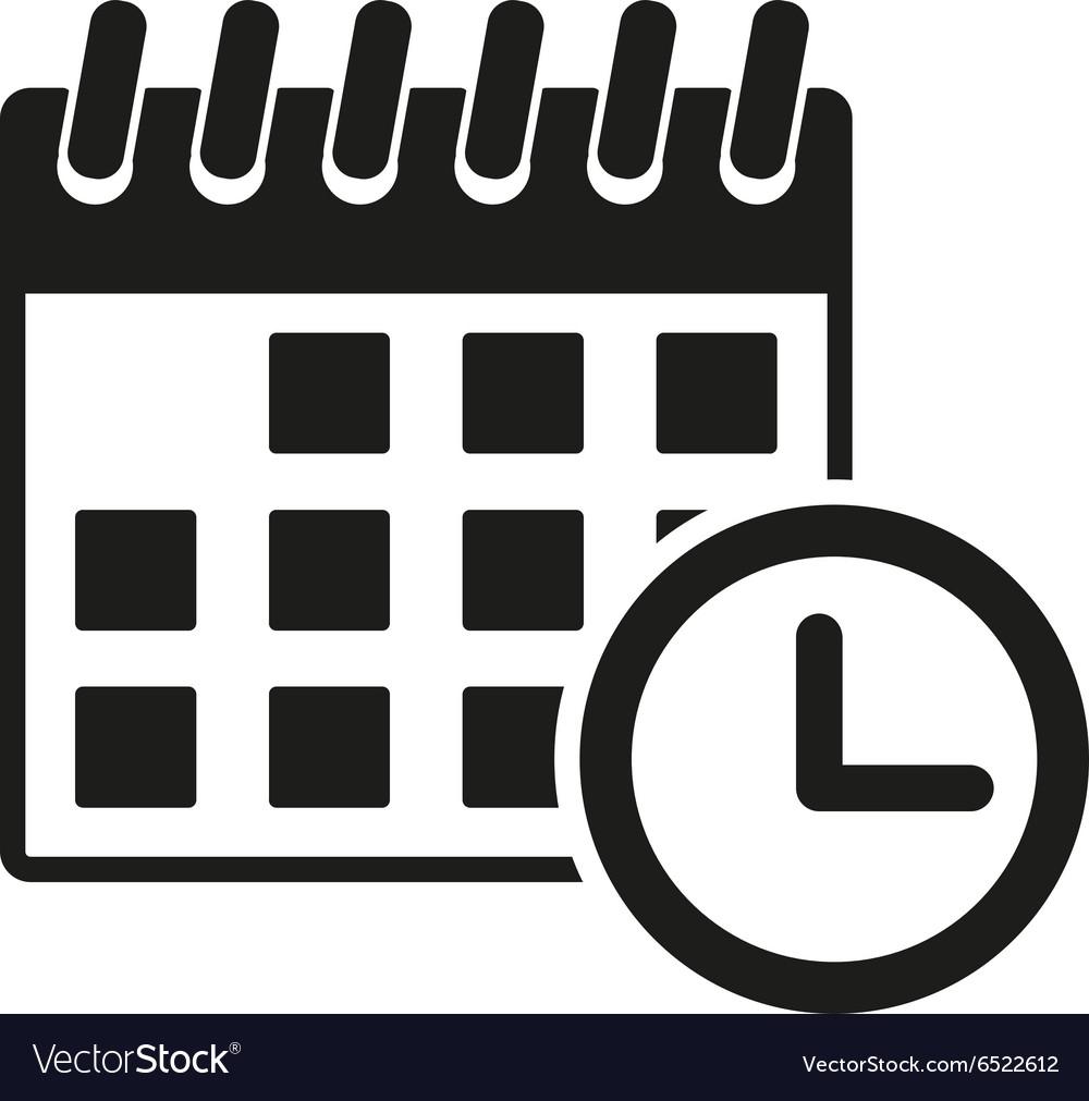 The Calendar Icon Reminder And Event Time Symbol regarding Icon Calendar Vector