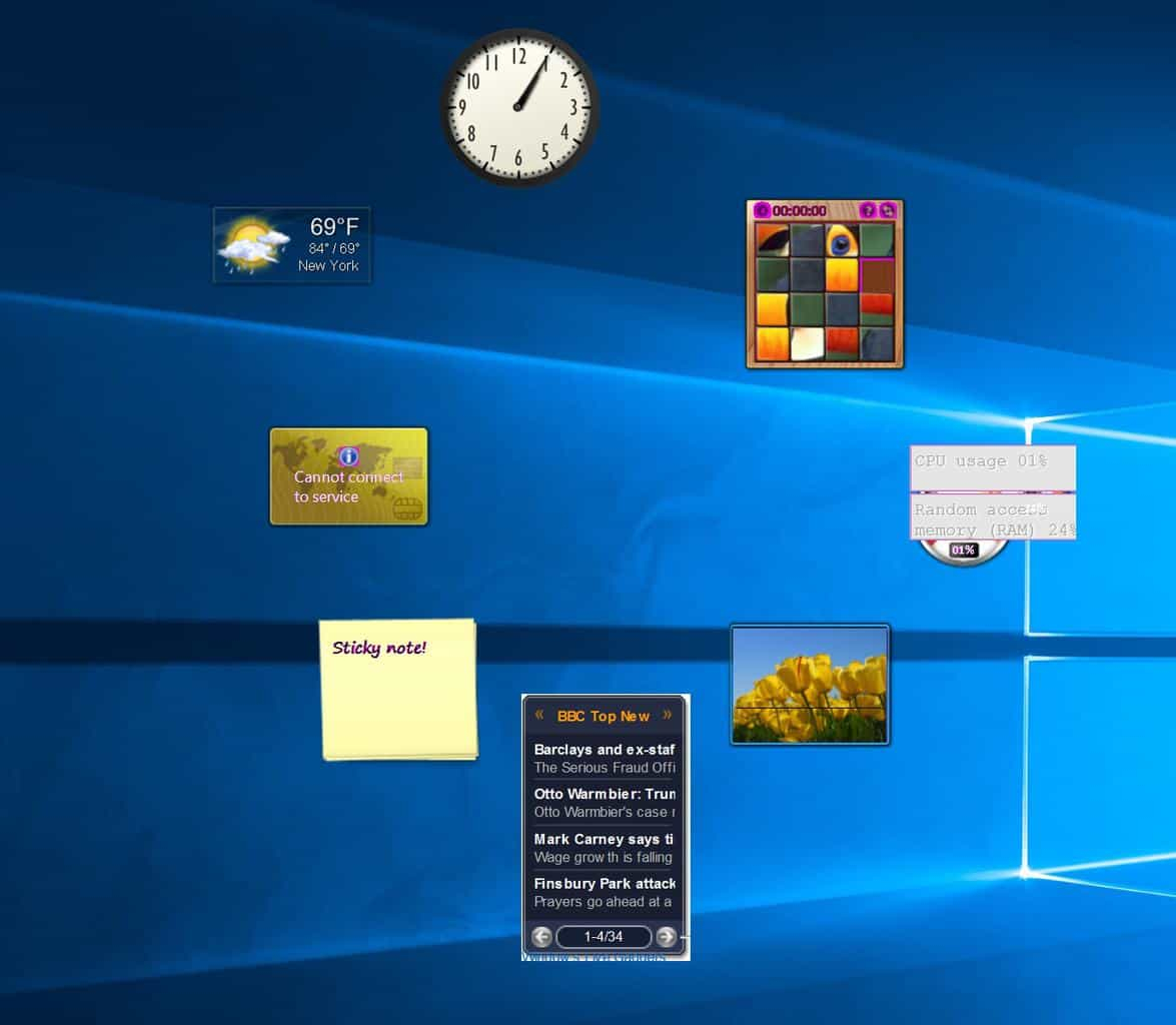 The Complete Gadgets Guide For Windows 10  Win10 Faq with regard to Windows 10 Widgets Notes