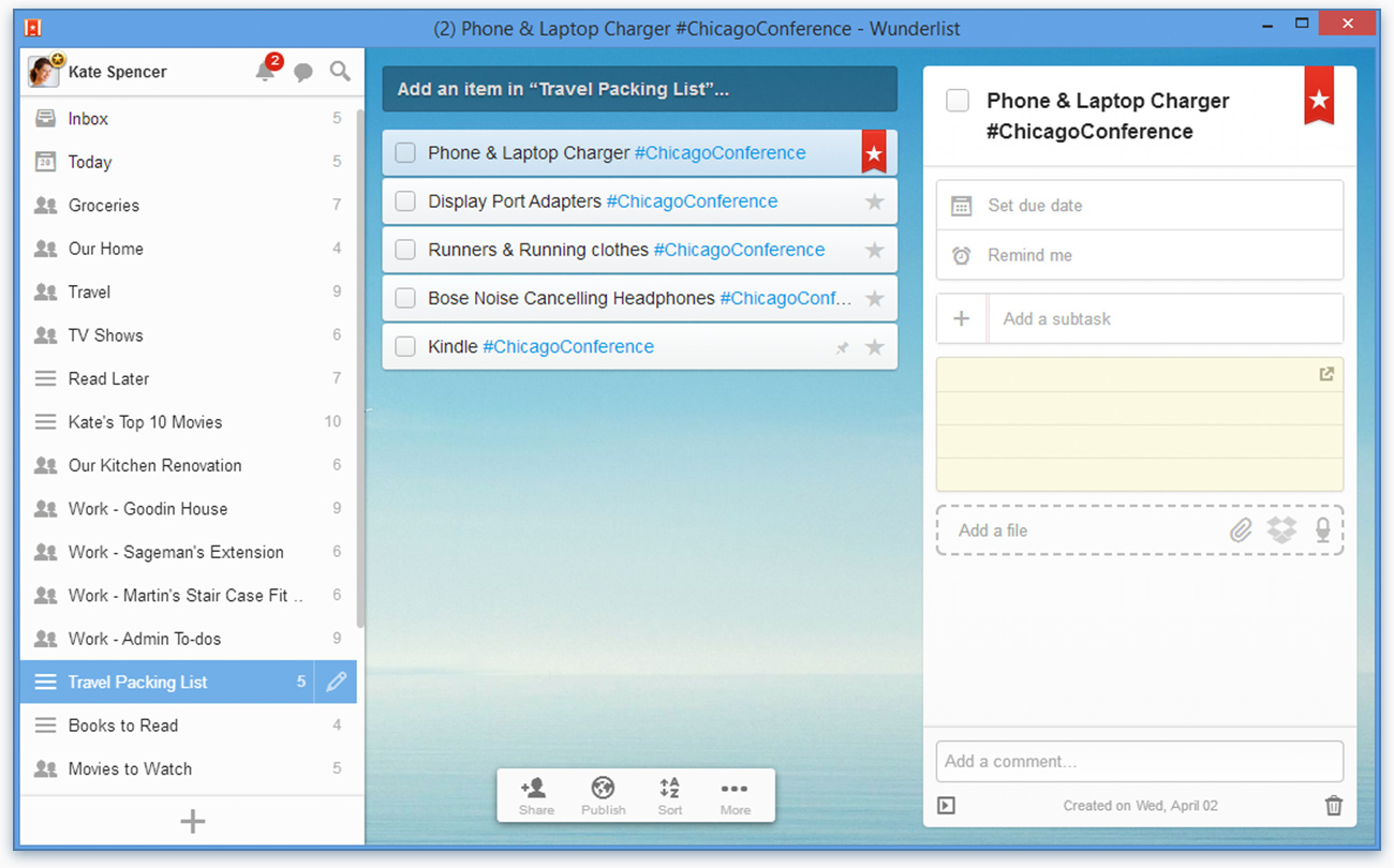 The Complete Wunderlist Suite For Windows 7, 8 And Windows pertaining to Wunderlist Calendar App
