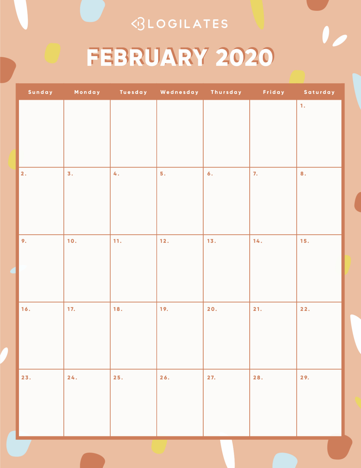 The Cutest 2020 Printable Calendars *free* – Blogilates for Blogilates December 2020 Calendar