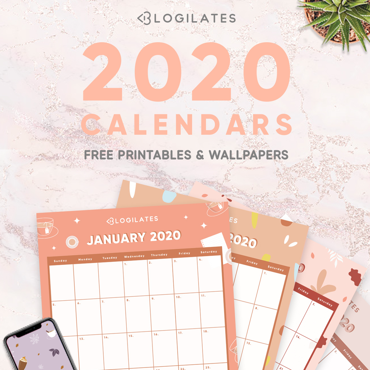 The Cutest 2020 Printable Calendars *free* – Blogilates inside Blogilates December 2020 Calendar
