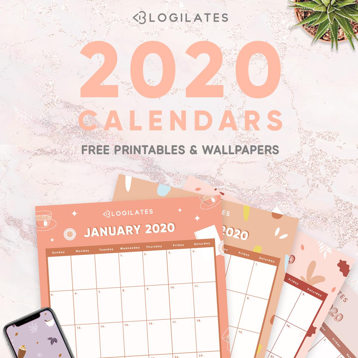 The Cutest 2020 Printable Calendars *free* – Blogilates inside Blogilates December 2020 Calendar