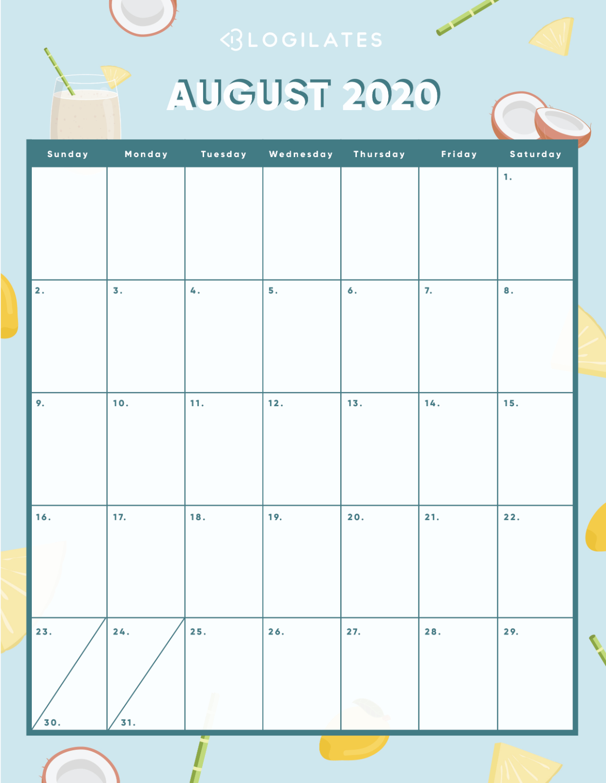 The Cutest 2020 Printable Calendars *free* – Blogilates within Blogilates December 2020 Calendar