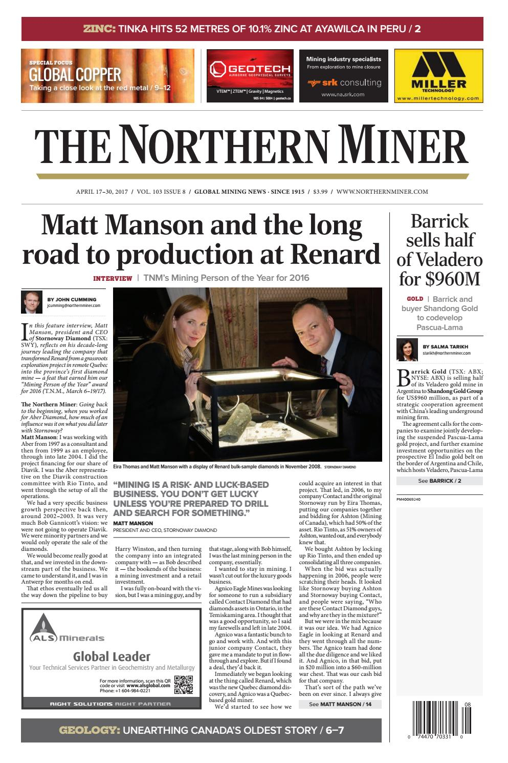 The Northern Miner April 17 2017 Issue By The Northern Miner pertaining to Zinco Corp Was A Calendar Year S Corporation