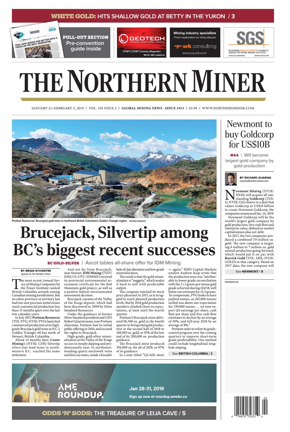 The Northern Miner January 21 2019 Issue By The Northern in Zinco Corp Was A Calendar Year S Corporation
