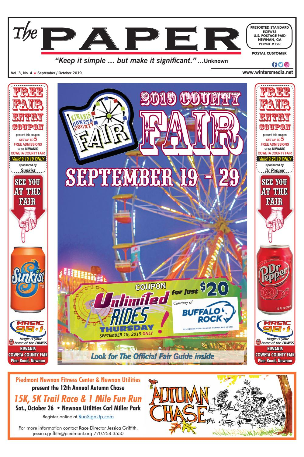 The Paper September 2019 Fair Issue By The Coweta Shopper inside Coweta County School Calendar