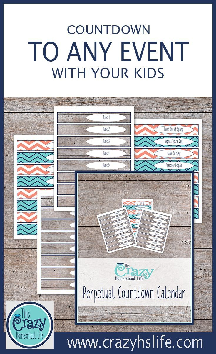 The Printable Perpetual Countdown Calendar | #forthekids within 365 Day Countdown Calendar