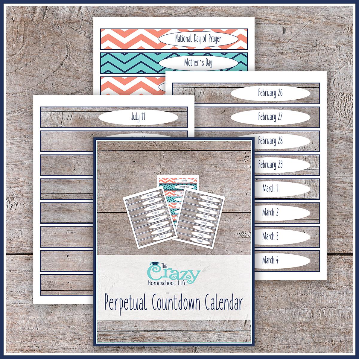 The Printable Perpetual Countdown Calendar regarding Make A Countdown Calendar Printable