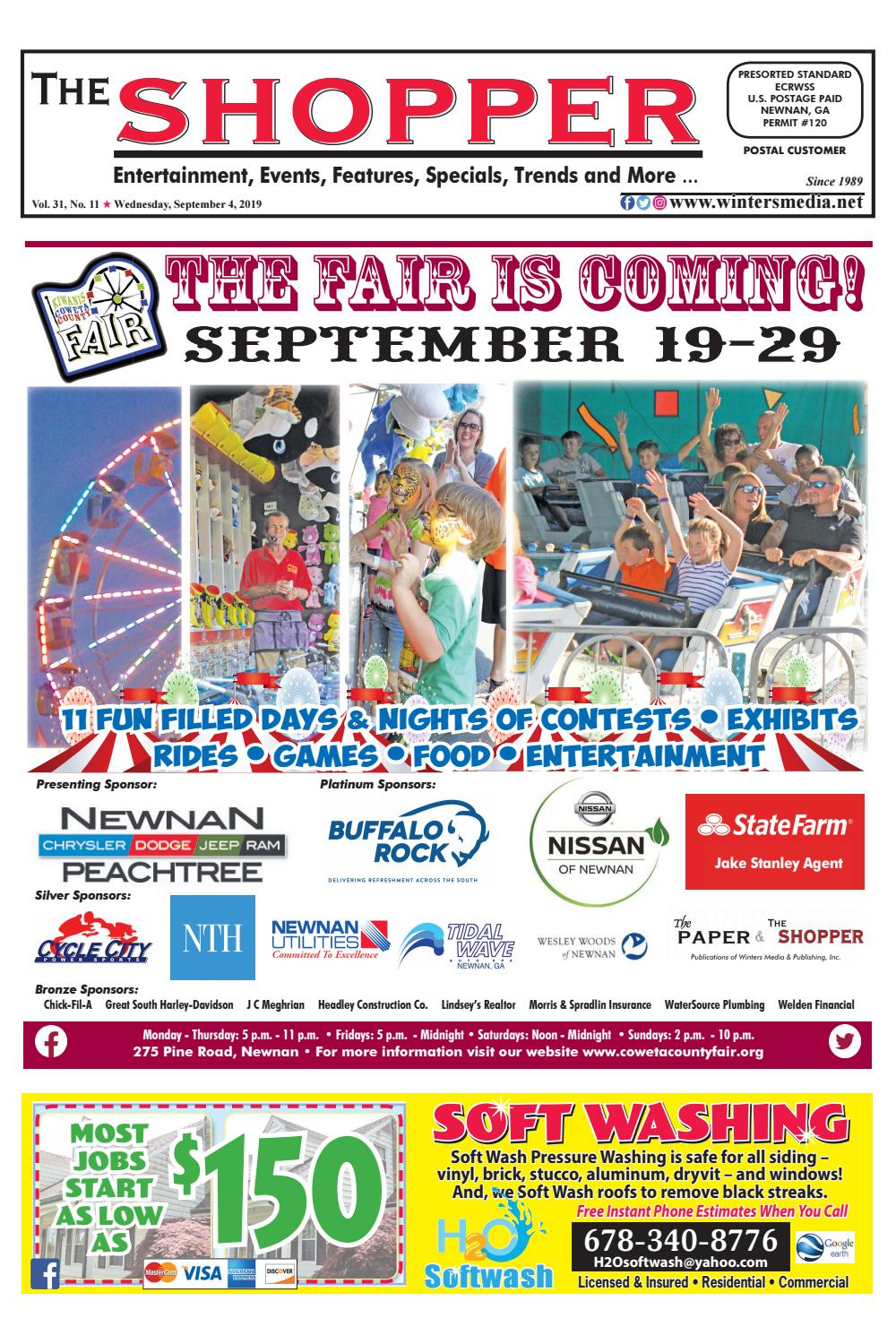 The Shopper September 4, 2019 Issue By The Coweta Shopper with Coweta County School Calendar