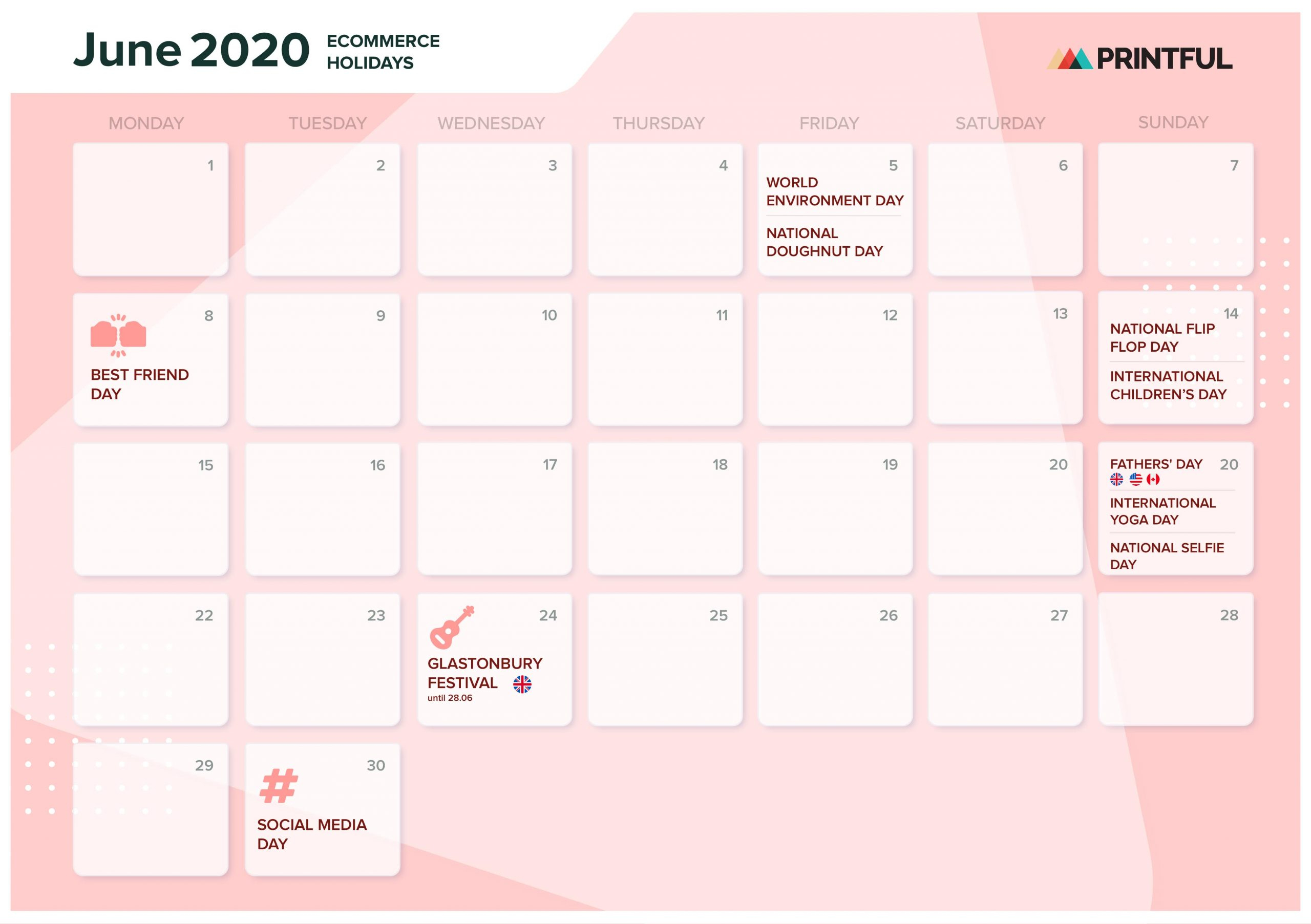 The Ultimate 2020 Ecommerce Holiday Marketing Calendar for 2020 Hong Kong Calendar Excel