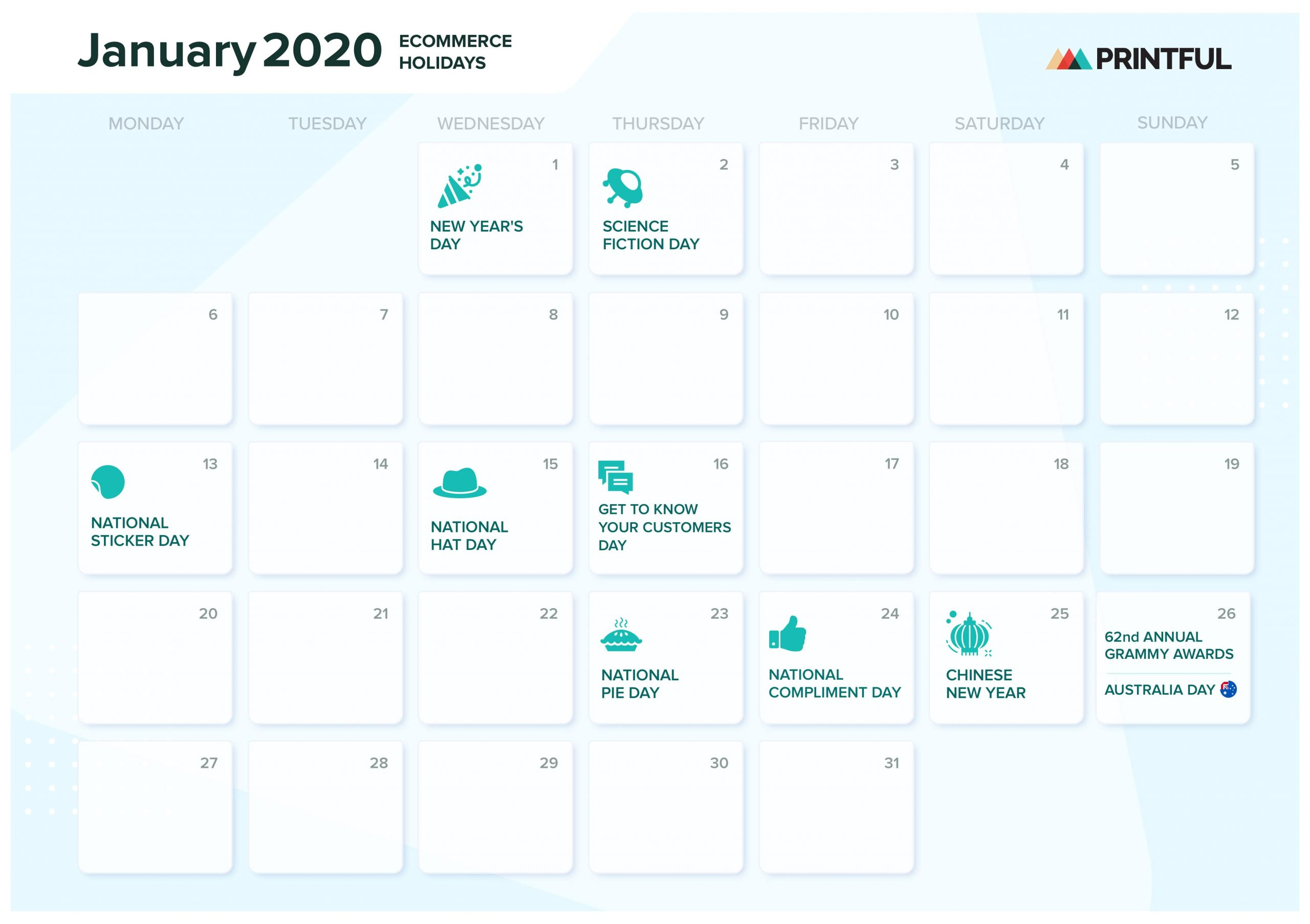 The Ultimate 2020 Ecommerce Holiday Marketing Calendar with regard to National Days June 2020