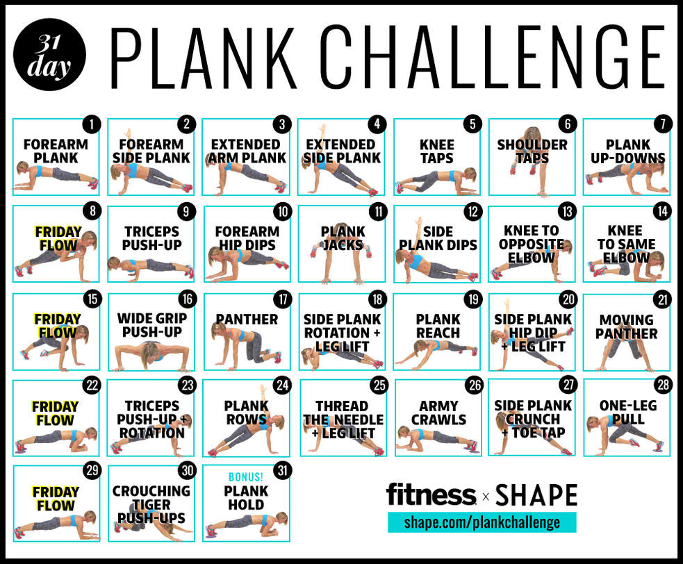 The Ultimate 30Day Plank Challenge For Your Strongest Core regarding 30 Day Plank Challenge Printable