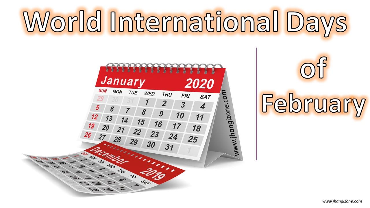 The World International Days (Un Designates Specific Days with International Days In January