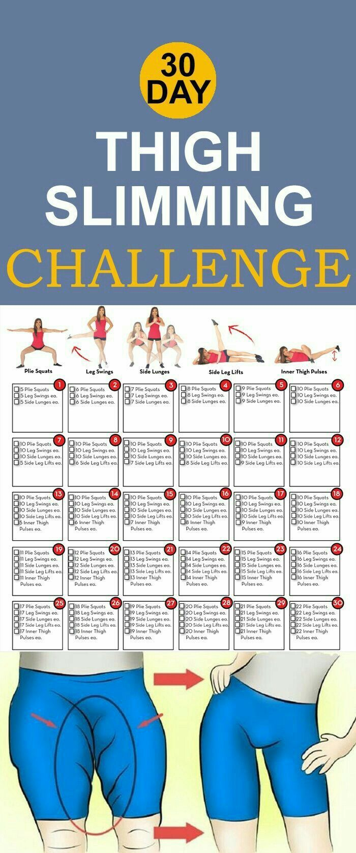 Thigh Slimming Challenge | Posted By: Newhowtolosebellyfat with 30 Day Inner Thigh Challenge