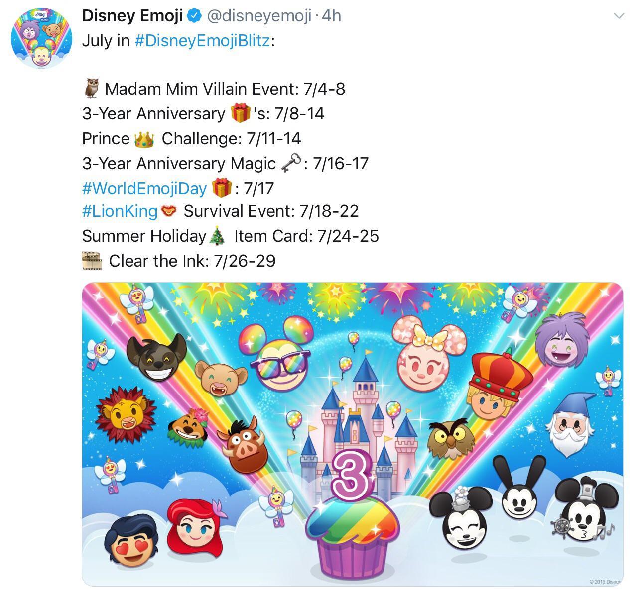 This Months Calendar : Disneyemojiblitz regarding Disney Blitz Calendar