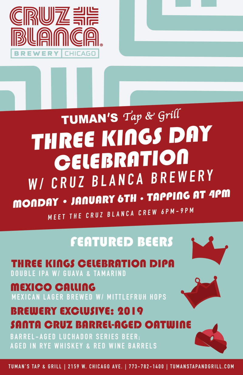 Three Kings Day Celebration W Cruz Blanca Brewery In Chicago At inside Three Kings Day 2021