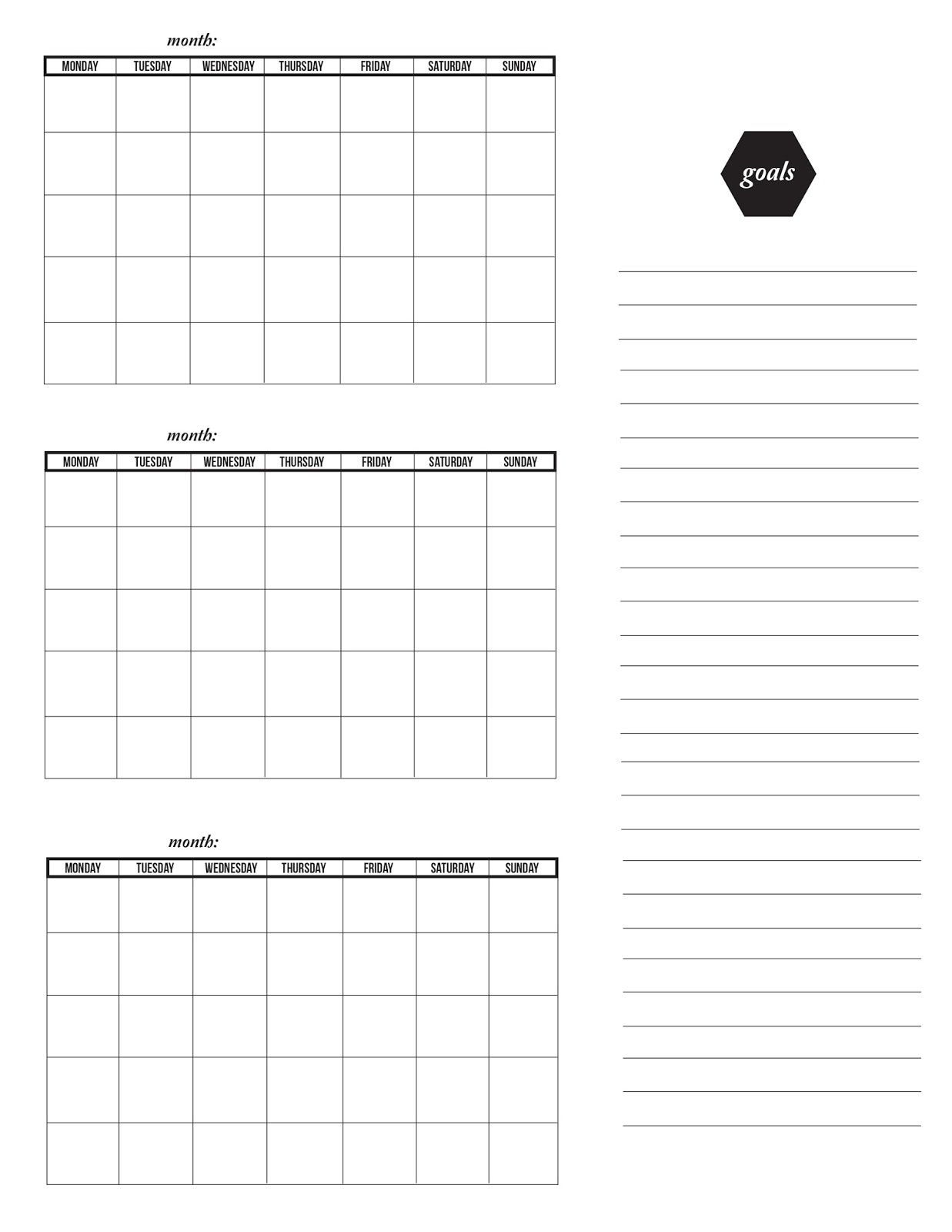 Three Month Calendar Template | Printable Calendar Template inside Three Month Calendar Template