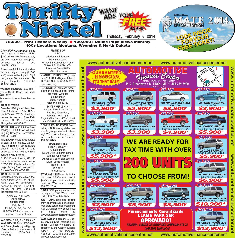 Thrifty Nickel Feb. 6 By Billings Gazette  Issuu within Oilfield Hitch Calendar Excel