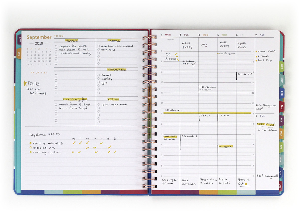 Time & Todo Planner in Planner With 15 Minute Time Slots
