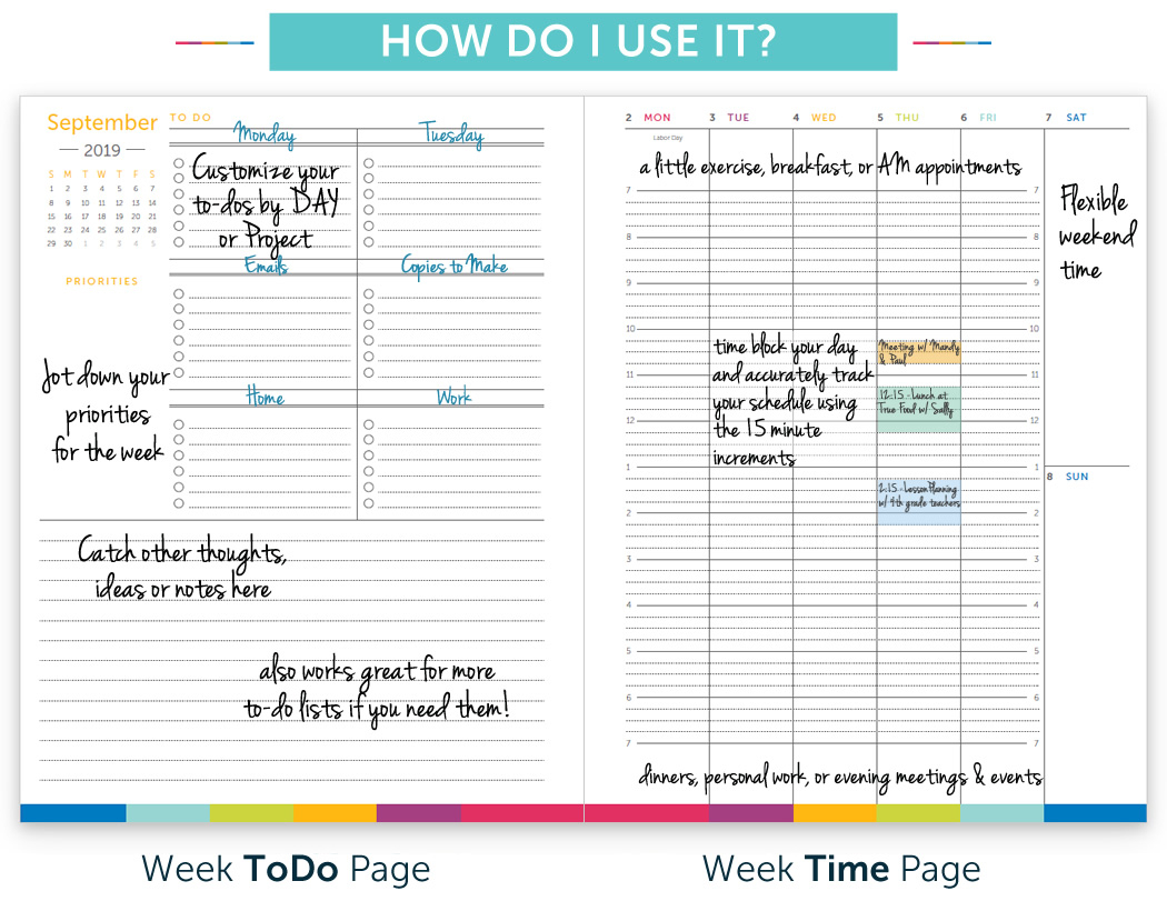 Time & Todo Planner intended for Planner With Time Slots