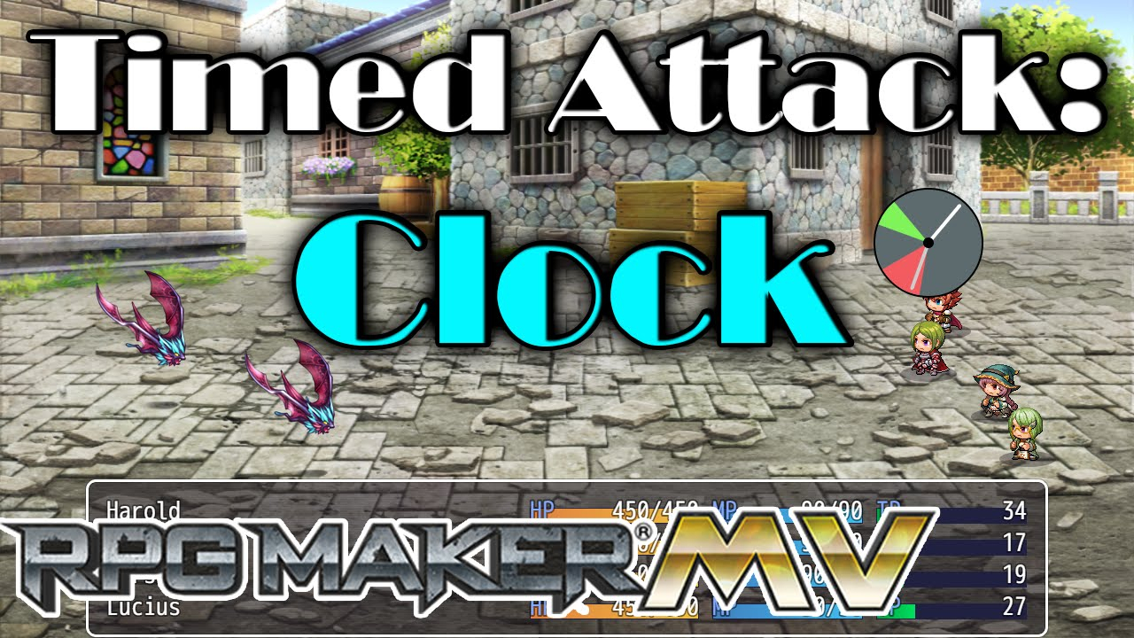 Timed Attack: Clock – Mv Plugin – Rpg Maker Mv Plugins throughout Rpg Maker Mv Clock