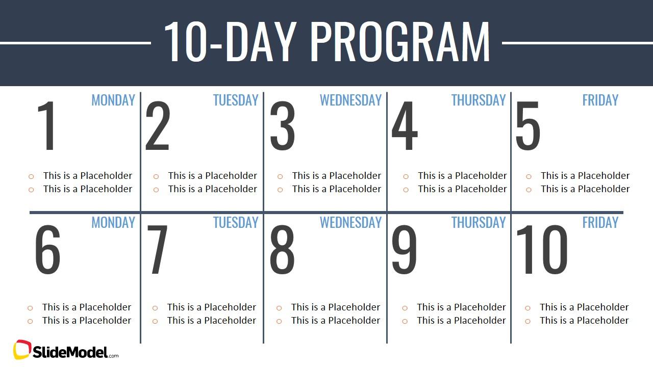 Timeline Template Two Weeks Calendar  Slidemodel with regard to Two Weeks Calendar