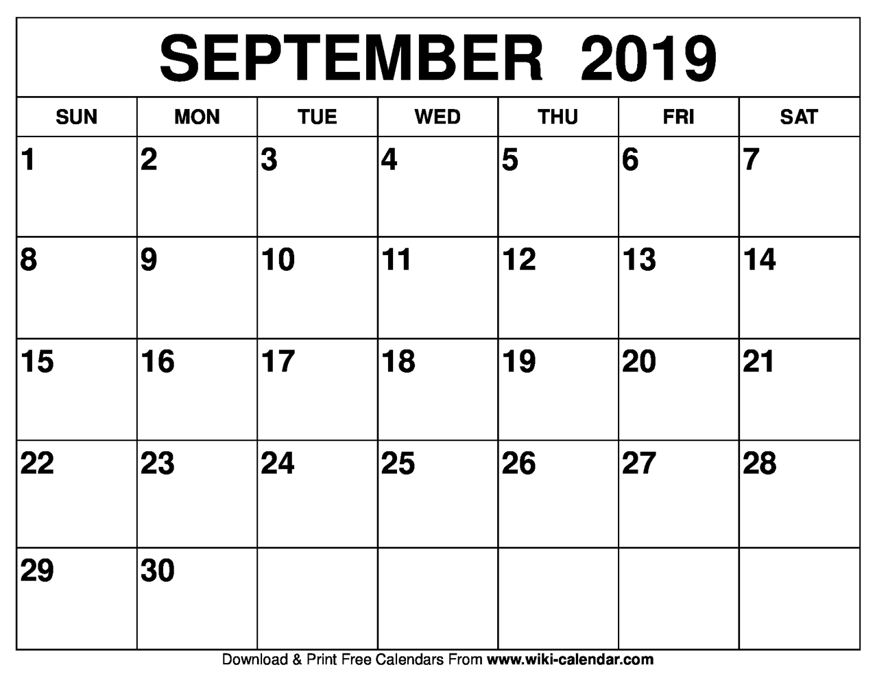 Top 5 Day Calendar September 2019 — Unique Table Calendar with Printable 5 Day Calendar