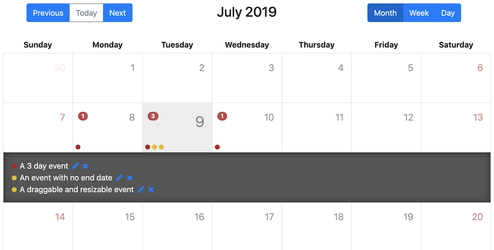 Top Javascript Calendar Plugins  Flatlogic  Medium within Full Calendar Icon In Event