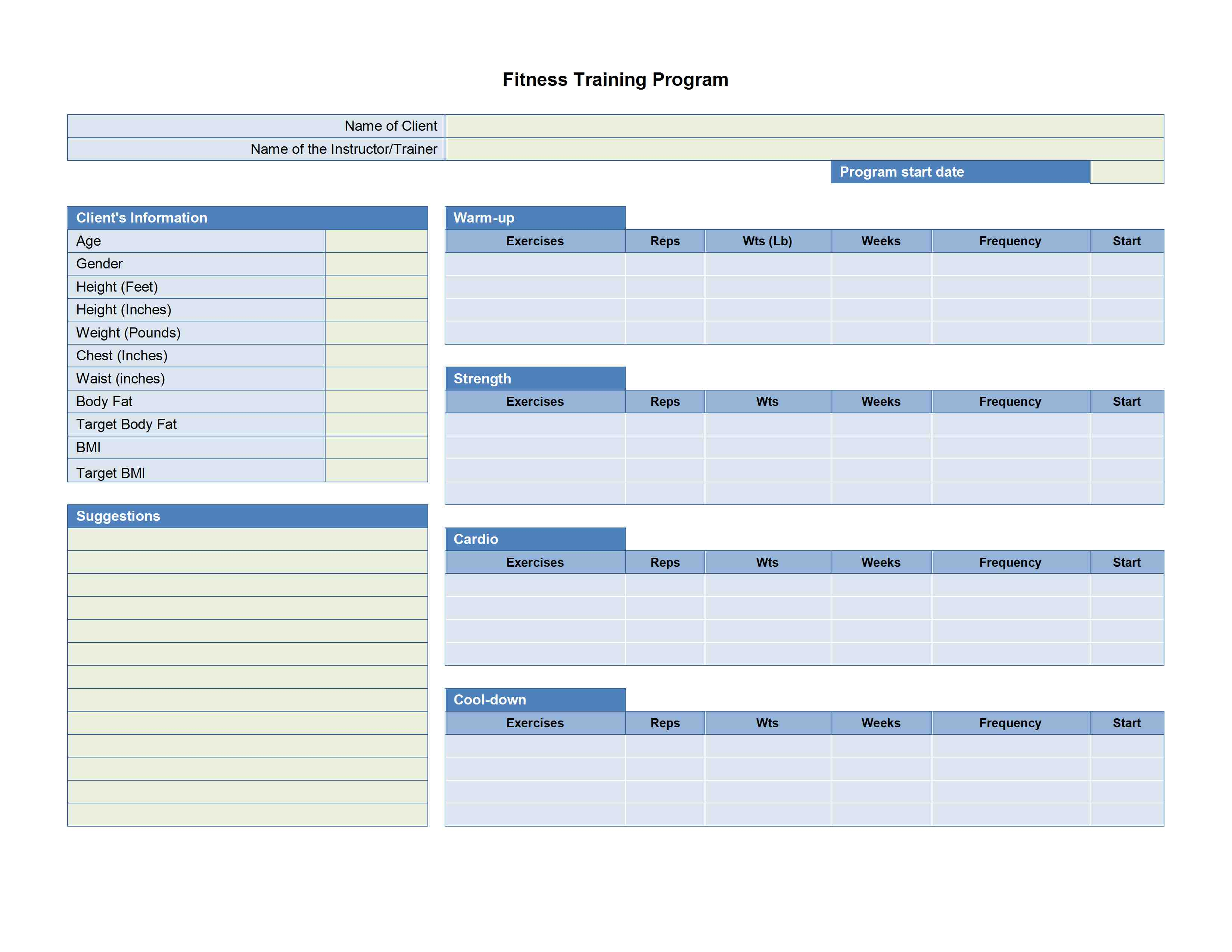Training Plan Template | Ecommercewordpress intended for Blank Training Plan Template