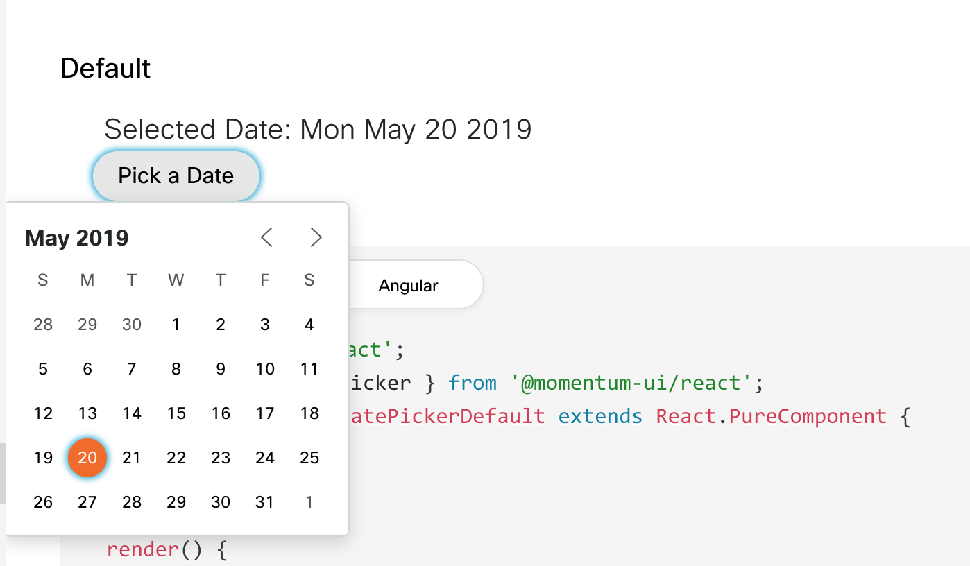Trigger For Date Picker React Component Should Be Text Input pertaining to React Datepicker Calendar Icon