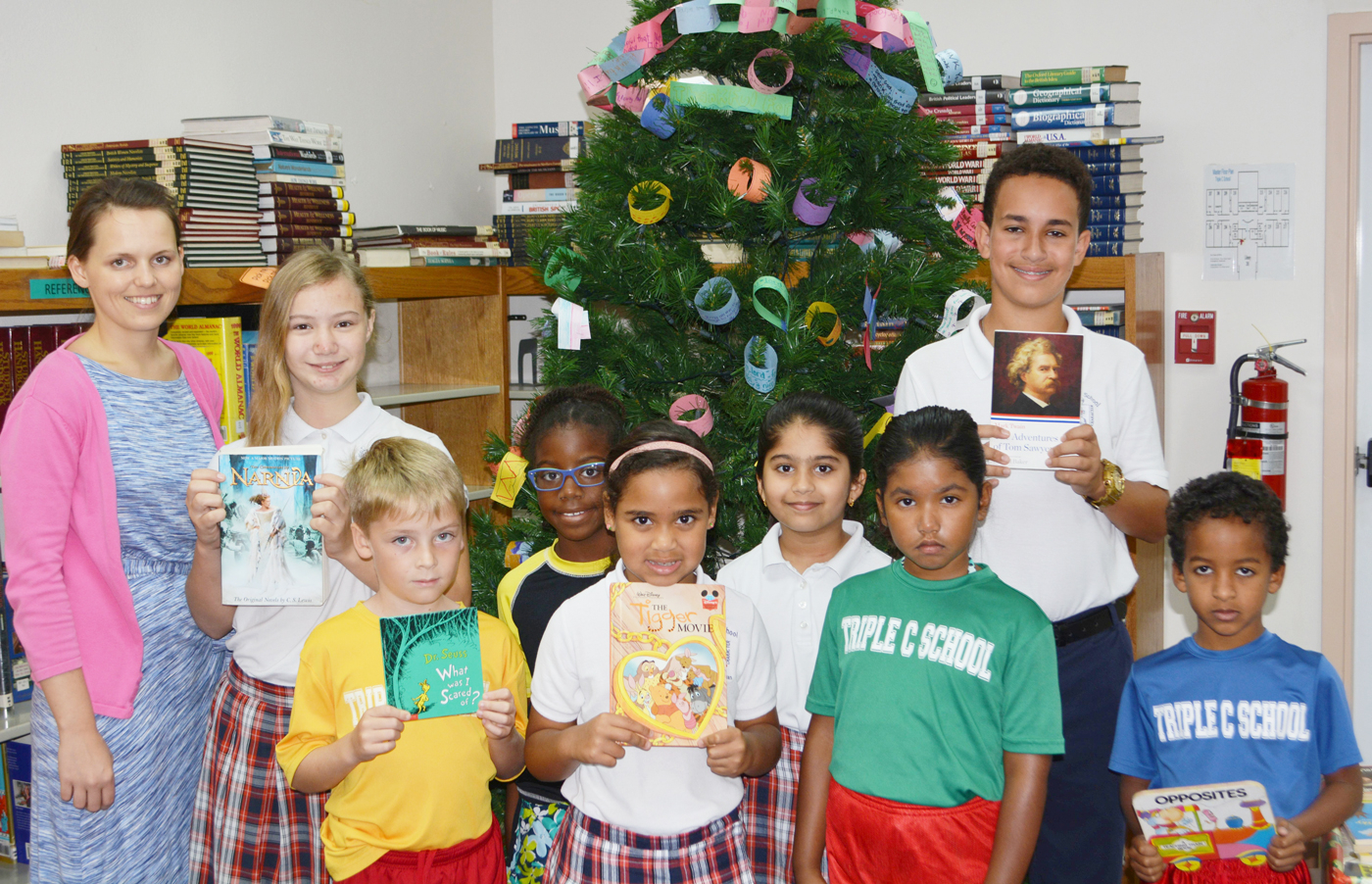 Triple C Students Give Gift Of Reading To The George Town in Triple C School Calendar