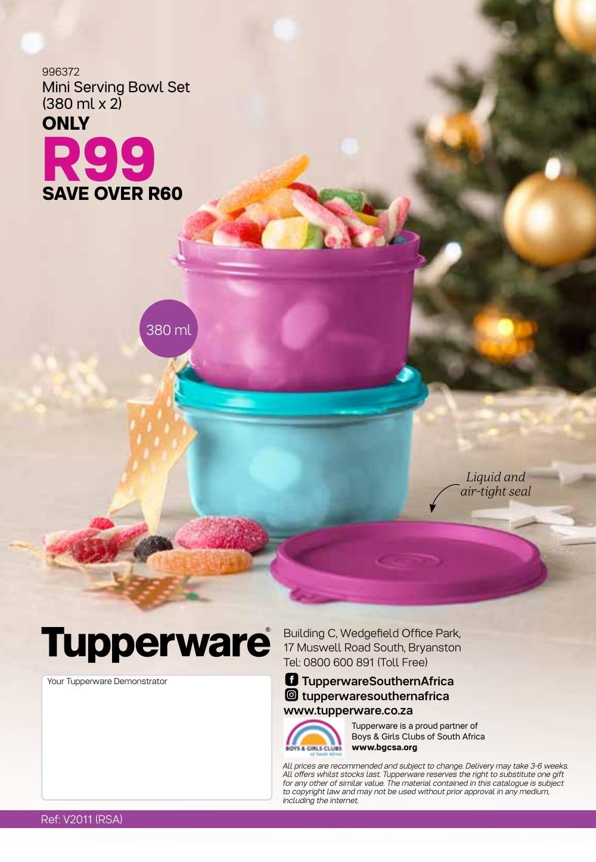 Tupperware Specials 4 December, 2019  7 January, 2020 for Tupperware Jan 2020