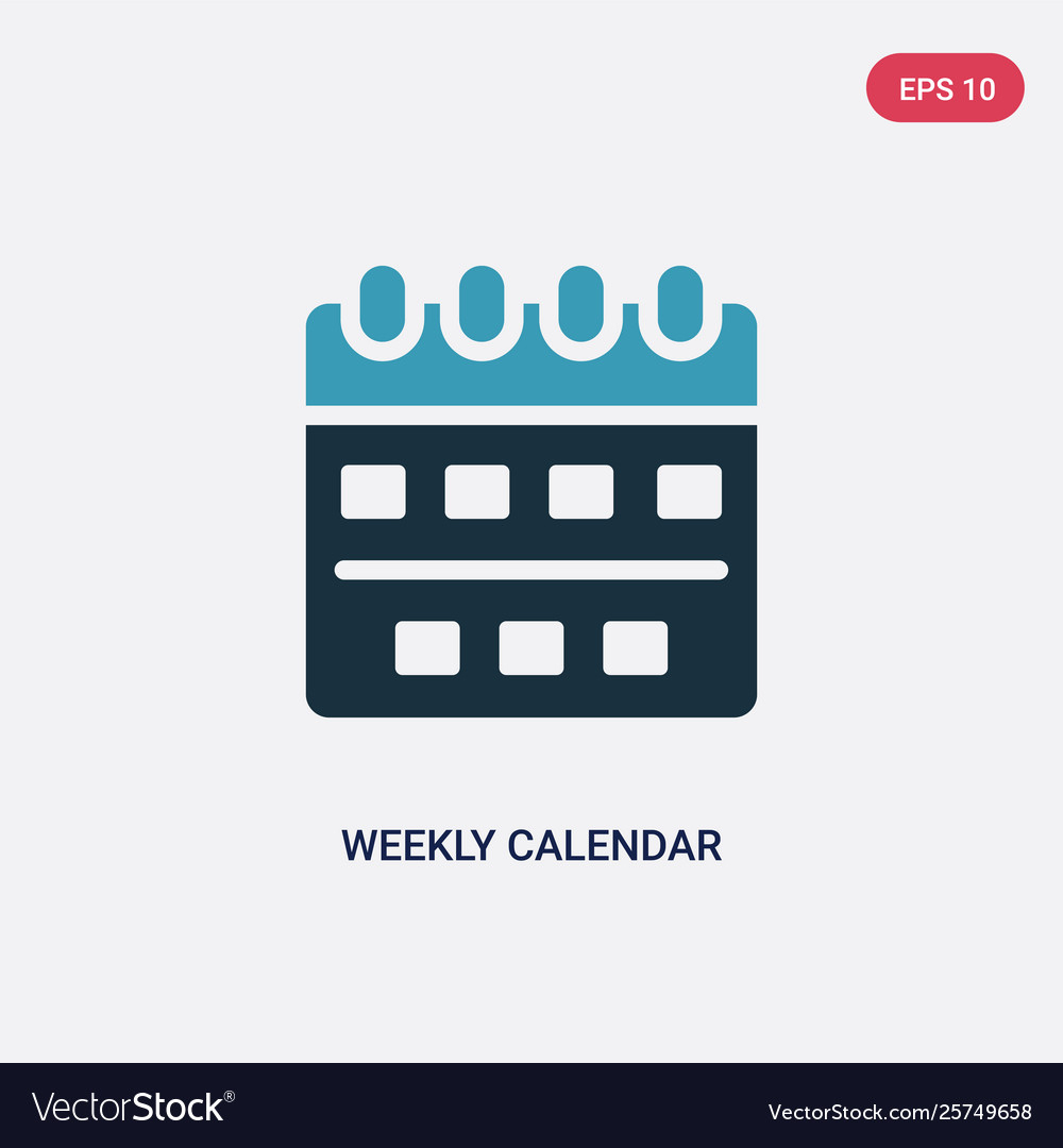 Two Color Weekly Calendar Icon From Time And Date intended for Time And Date Weekly Calendar