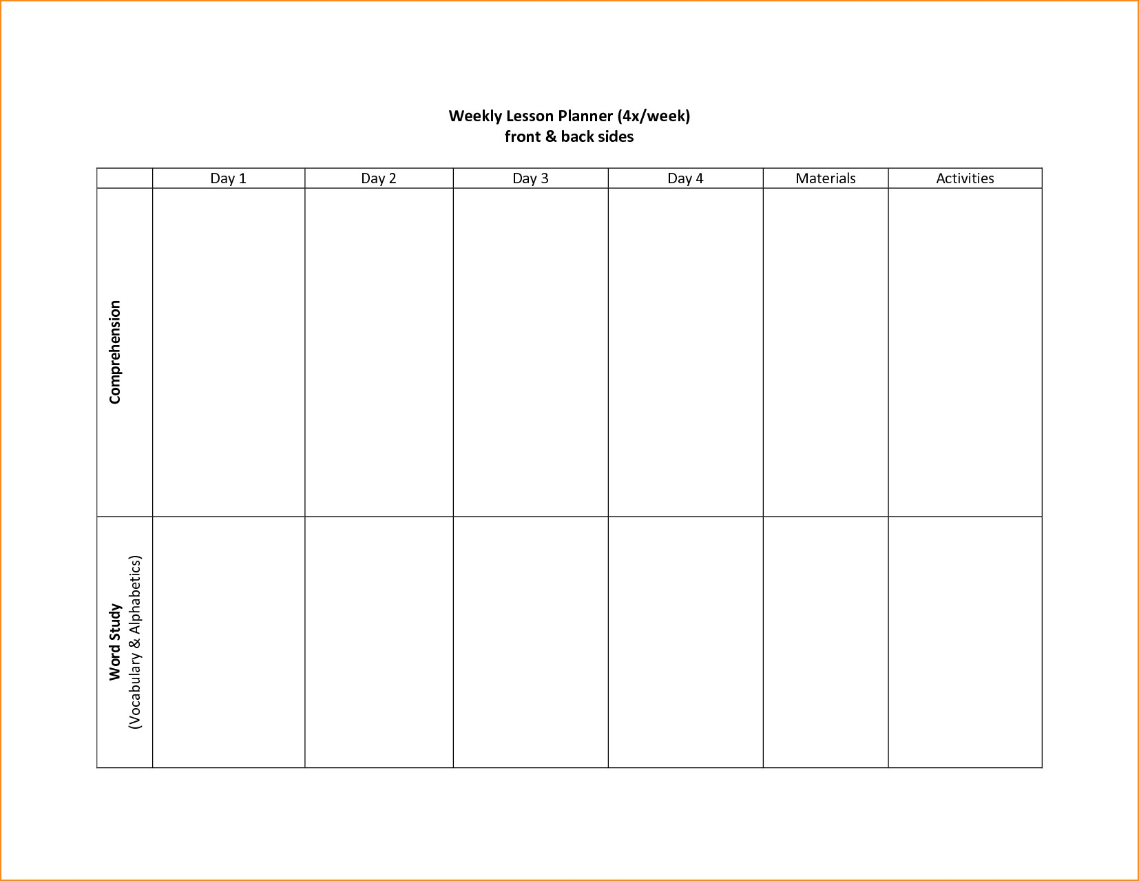 Two Week Calendar Template Word  Bolan.horizonconsulting.co intended for Printable Weekly Calendar