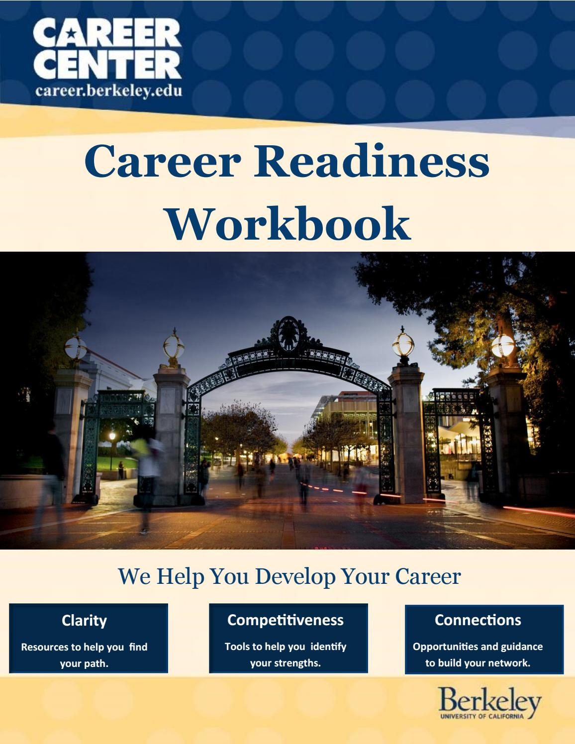 Uc Berkeley Career Center Career Readiness Workbook By regarding Uc Berkeley Pay Dates