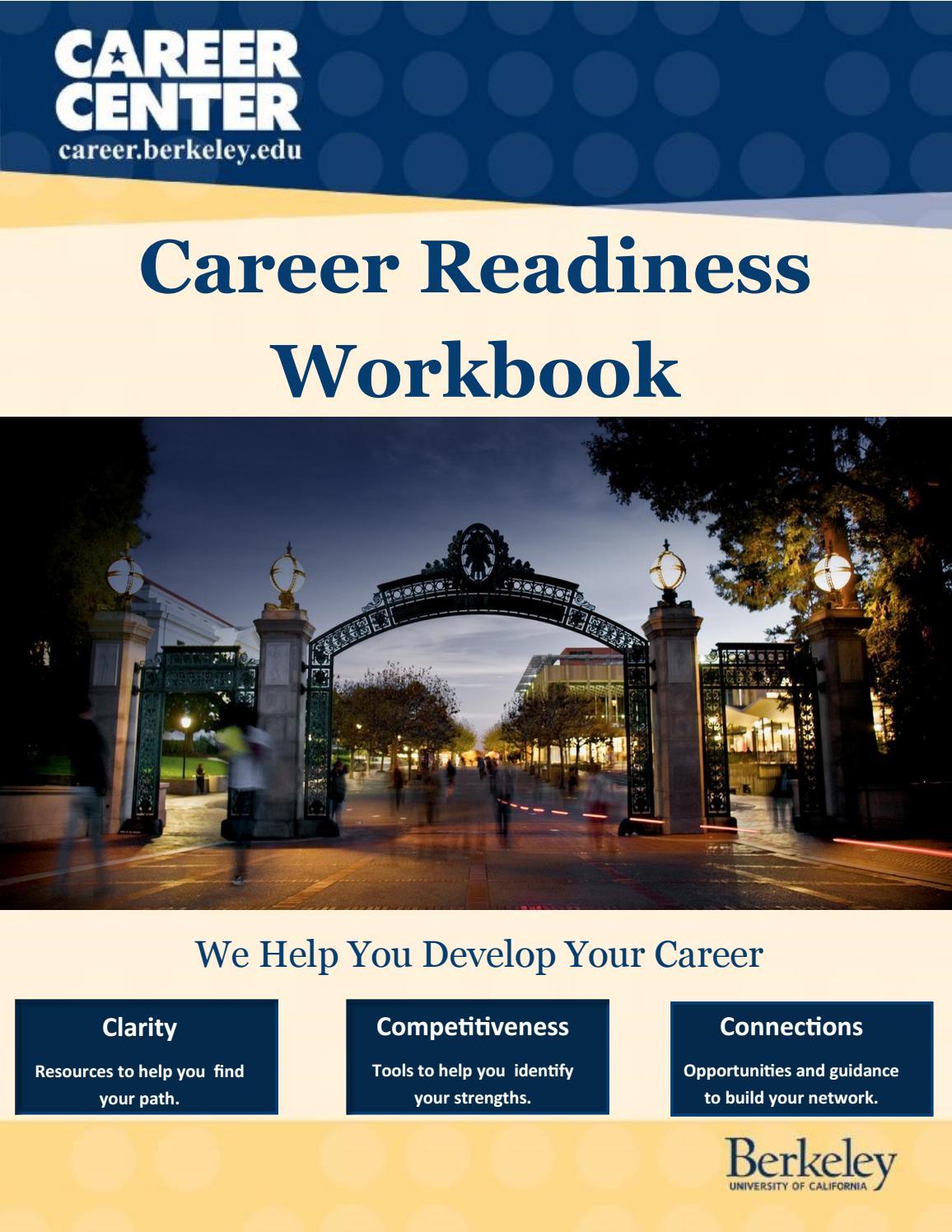 Uc Berkeley Career Center Career Readiness Workbook By with Uc Berkeley Academic Schedule