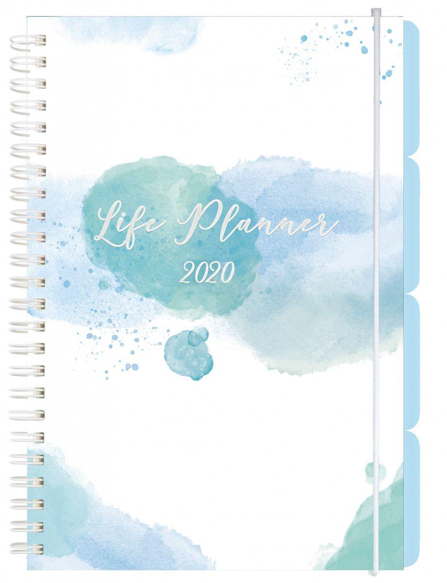 Ukekalender Grieg A5 Life Planner Blå 2020 pertaining to Norsk Ukekalender 2020