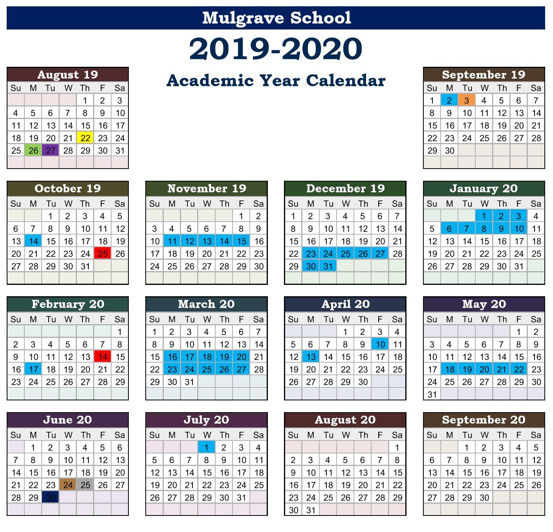 Ul Academic Calendar 2019 inside Mulgrave School Calendar
