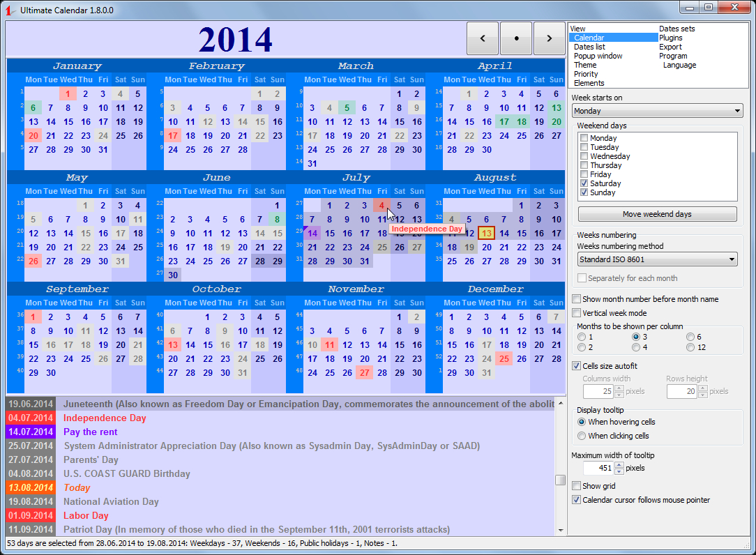 Ultimate Calendar 1.8.1.1  Все О Total Commander for Calendar Icon Unicode